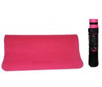 Коврик для упражнений YG08 розовый