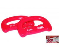 Набор гантелей HKDB1245. Цвет-розовый.