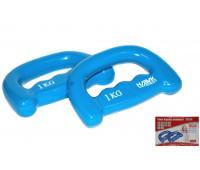 Набор гантелей HKDB1245. Цвет-синий.