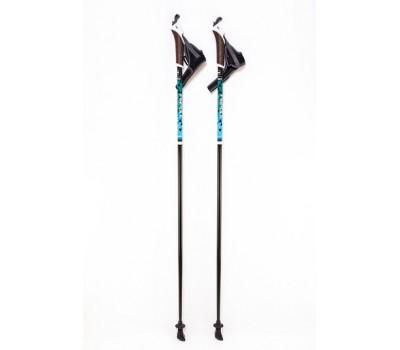 Палки для скандинавской ходьбы цельные Finpole NERO 100% Fiberglass 115 см