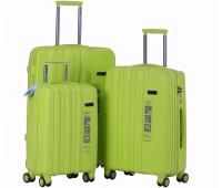 Комплект из 3-х чемоданов на колесах с выдвижной ручкой H2 travel luggage H-8002LG