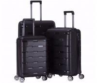 Комплект из 3-х чемоданов на колесах с выдвижной ручкой H2 travel luggage H-8008B