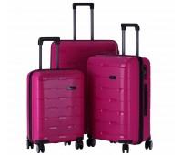 Комплект из 3-х чемоданов на колесах с выдвижной ручкой H2 travel luggage H-8008RR