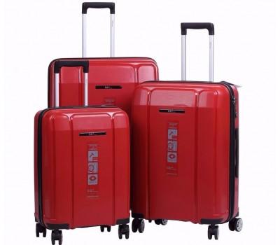 Комплект из 3-х чемоданов на колесах с выдвижной ручкой H2 travel luggage H-8009DR
