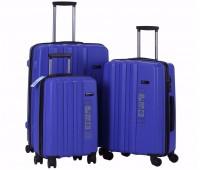 Комплект из 3-х чемоданов на колесах с выдвижной ручкой H2 travel luggage H-8002DB
