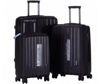 Комплект из 3-х чемоданов на колесах с выдвижной ручкой H2 travel luggage H-8004B