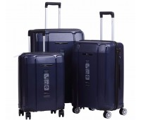 Комплект из 3-х чемоданов на колесах с выдвижной ручкой H2 travel luggage H-8009DB